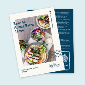 Easy As Aussie Barra Tacos Recipe Cards x100