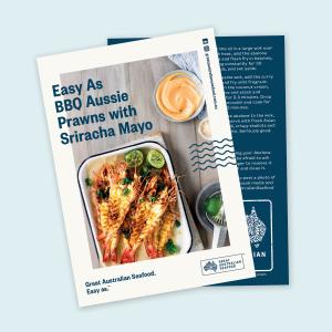 Easy As BBQ Aussie Prawns with Sriracha Mayo Recipe Card