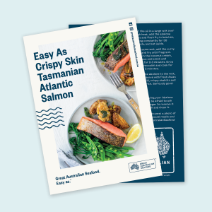 Easy As Crispy Skin Tasmanian Atlantic Salmon Recipe Cards x100