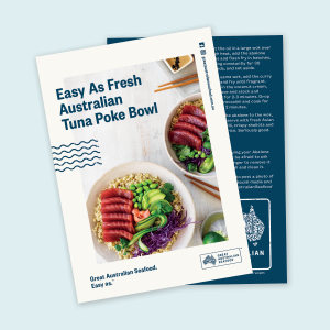Easy As Fresh Australian Tuna poke bowl recipe cards x 100
