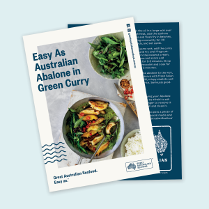 Easy As Australian Abalone in Green Curry Recipe Card